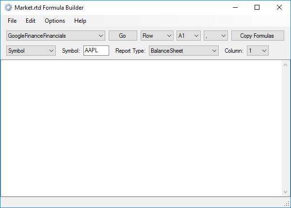 MARKET.RTD Formula Builder