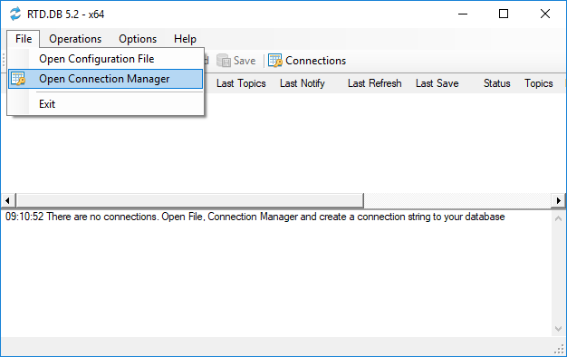 RTD.DB Connection Manager